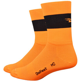 "DeFeet Aireator 5"" Single Cuff Socken team defeet (neon orange)"